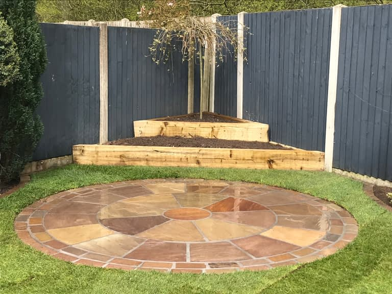 Sandstone paving Macclesfield