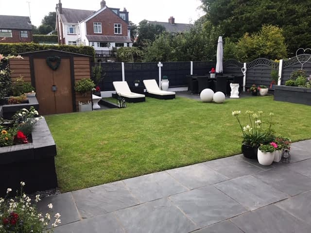 slate paving installation in Macclesfield Cheshire