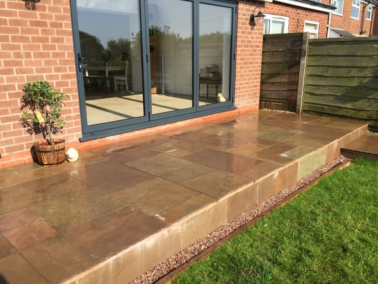 Patio laying service Macclesfield